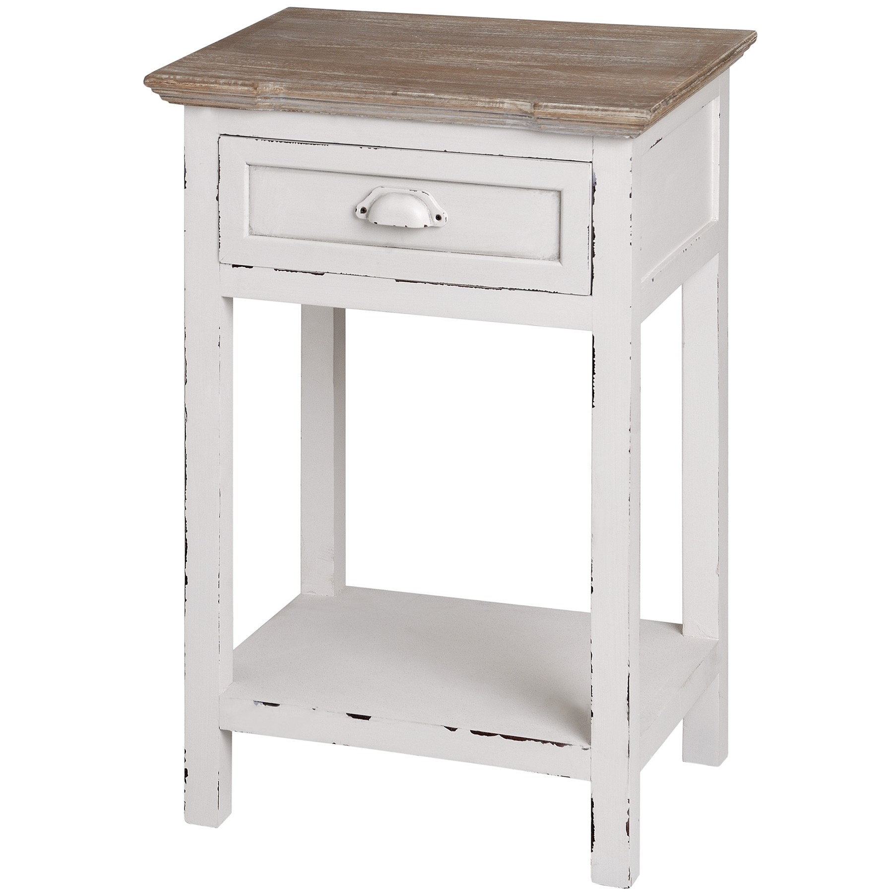 New England 1 Drawer Bedside Table Assembled Shabby Chic Cream Bedside Cabinet