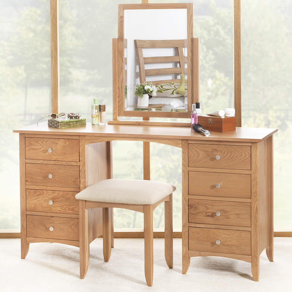 Edward Hopper Oak Dressing Table Large Dressing Table 8