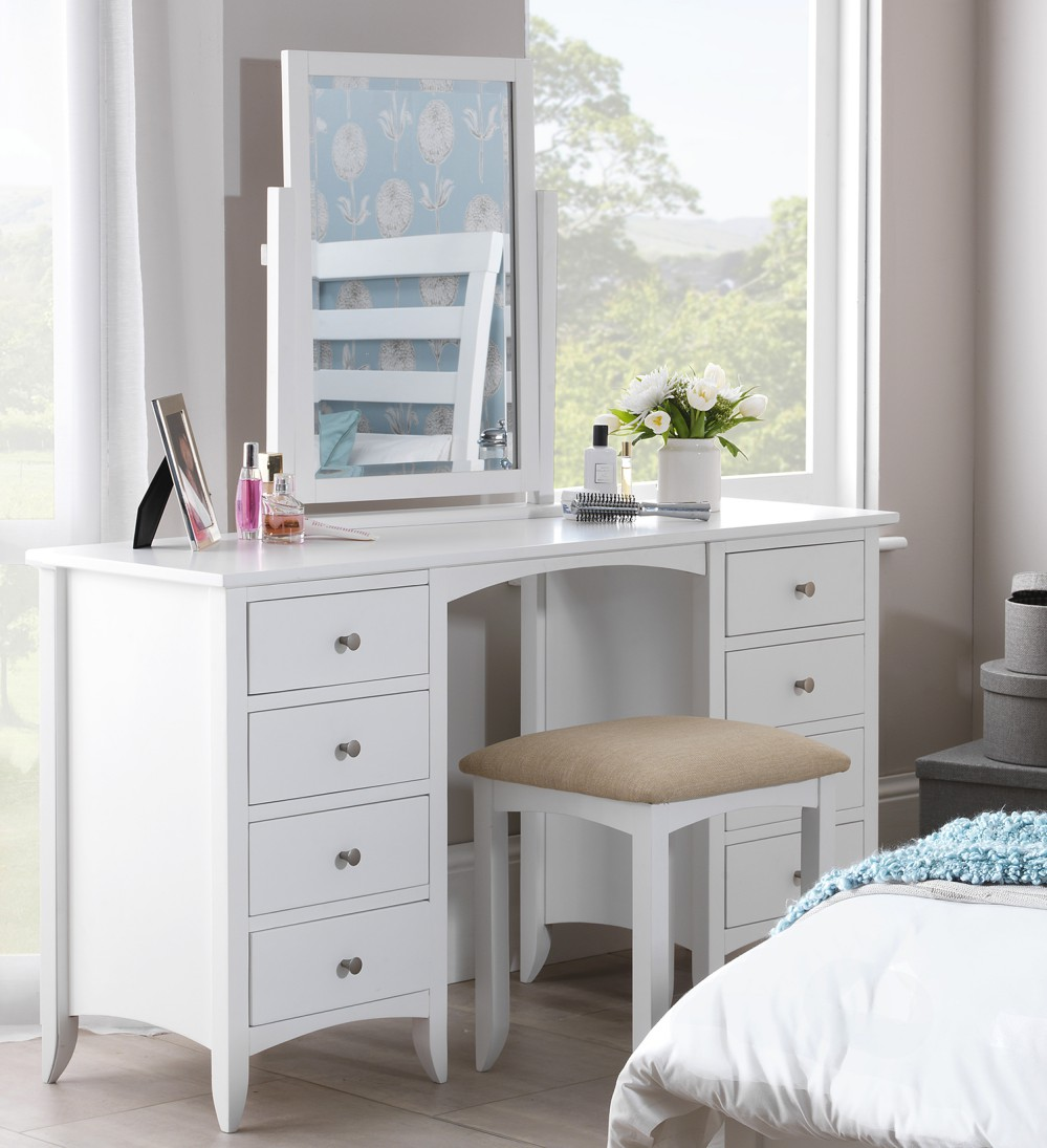 edward hopper white dressing table partially assembled easy glide metal runners ebay. Black Bedroom Furniture Sets. Home Design Ideas