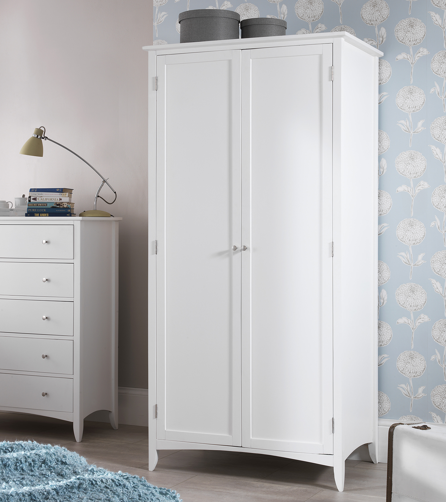 Double Bed With Drawers White